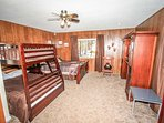 Bedroom 3- Separate From Main House-  Queen/Twin Bunk, TV/DVD, Private Bath