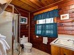 3/4 bathroom off bedroom 1