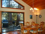 Dining area, large open windows for great views