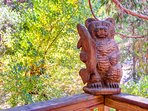 Mr. Bear overseeing the deck