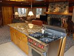 Kitchen with granite counter top, Wolf Range