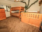 Bedroom 3: Full/Twin Bunk Bed Set and Full Bed, TV
