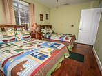Bedroom 3: 2 Full Beds, TV