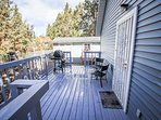 Back deck with propane BBQ