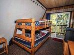 Bedroom 3- Full/Twin Bunk, TV,  Balcony- 2nd Level