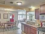 The fully equipped kitchen is the perfect spot to whip up tasty snacks.