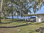 A private dock allows you to explore the lake waters at this lovely Dunnellon  home!