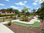 On-site facilities: crazy golf