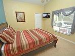 Bedroom 3 with wall mounted flatscreen TV