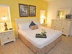 Master bedroom 2 with king bed, TV and en-suite bathroom