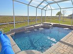 Pool with expansive view beyond
