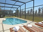 Pool deck  and sun loungers