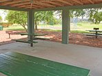 On-site facilities: covered BBQ area