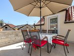 Big terrace of apartment where you can enjoy all days of your stay here.