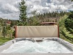 Hot Tub with views of woods and mountains