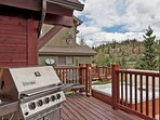 Back Deck with Grill and Hot Tub