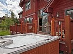 Hot Tub and Back Deck View
