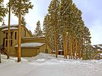 Ski slopes view from in front of the five bedroom Golden Chalet in Breckenridge!