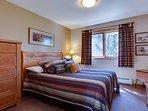 Bedroom 1 on top floor with queen bed