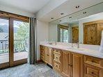 Master Bathroom with Patio Doors to Balcony