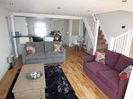Beautiful open plan Lounge with kitchen diner
