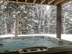 Hot Tub with Wooded Setting