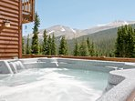 Summer view from hot tub and deck