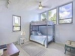 perfect for kids, the fourth bedroom has full size mattress bunk beds