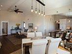 Casita floor plan is open for easy conversation