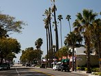 Downtown Carpinteria a few miles south