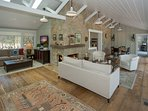 Wide plank floors and graceful décor