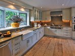 Bright and well stocked Kitchen