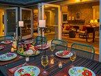 Blending of indoor and outdoor spaces