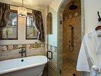 Spacious walk-in shower in Master Bathroom