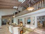 Loft Master Suite is open to Living Room below