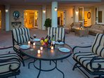 Plenty of places to relax and unwind on the Lanai
