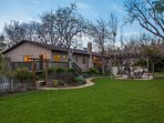 Great backyard with expansive lawn