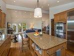 Open floor plan flows between Kitchen and Family Room
