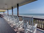 Oceanfront top deck