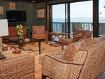 Sliding Glass Doors lead from Great Room to Upper Level Deck