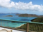 Watch boats sail in and out of Cinnamon Bay