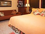 Upper King Suite with Queen Futon and ensuite Bath