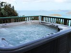 Relax with a view in the Jacuzzi on Lower Deck