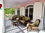 Comfortable seating on full length covered veranda