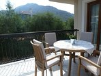 master bedroom balcony, with fabulous view of Babadag mountain and sunrise