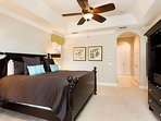 Luxury downstairs master suite with King size bed and LCD TV