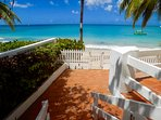 Stairs separate the two sundecks and lead you straight to your direct access to Mullins Beach