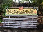 Good advice to live by while vacationing on Montserrat!