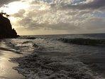 Woodlands Estate Beach at Sunset.