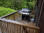 Grill on balcony directly off of kitchen